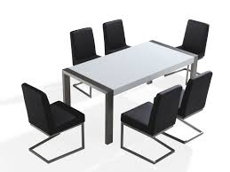 Steel Dining Room Chairs Stainless Steel Top Dining Table Is Also A Kind Of Rectangular
