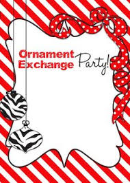 Christmas Ornament Party Invitations - how to host an ornament swap swap party and frugal