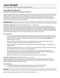 example event marketing manager resume summary include career