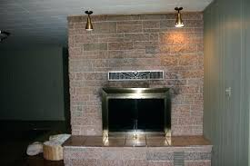paint red brick fireplace black white wallpaper before after faux