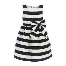 black and white striped ribbon sweet kids black white stripe ribbon accent occasion dress 8
