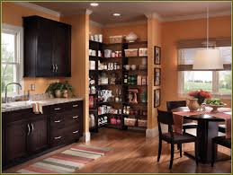 wood countertops kitchen cabinets without doors lighting flooring