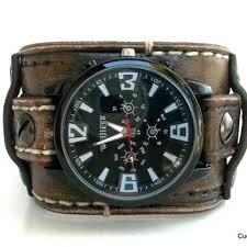 fossil black leather bracelet images Mens leather cuff watch leather cuff watch guess mens cuff watches jpg