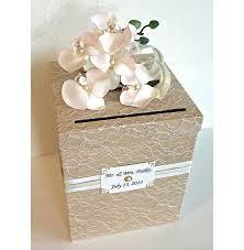 wedding money box wedding card box vintage chagne ivory gold single tier