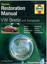 vw beetle and transporter restoration manual by haynes
