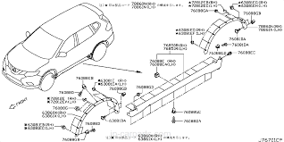 subaru cvt diagram 76851 4ce0a cover assembly sill lh x trail nissan part