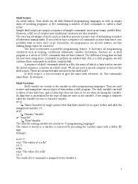 shell scripts control flow c programming language