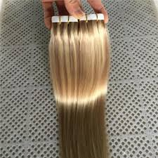 hair extensions online 9a grade 100g pu skin weft in hair extensions piano color 18