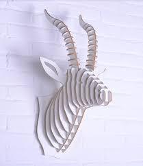 paper white deer head wall decor white deer head wall decor