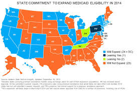 Dc State Map by Fewer Than Half Of States To Expand Medicaid Avalere Health
