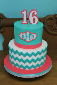 chevron teal and coral cake cake ideas pinterest coral cake