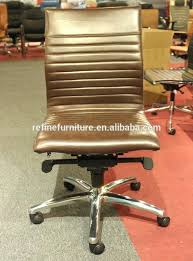 brown leather armless desk chair brown armless office chair brown leather computer chair design