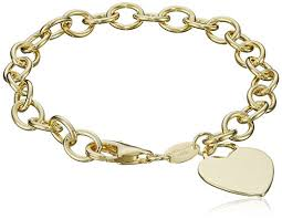 silver chain bracelet with heart images Sterling silver and gold plated bracelet with heart charm 7 5 jpg