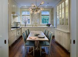 Glass Orb Chandelier Glass Orb Chandelier Transitional Kitchen Jennifer Eisenstadt