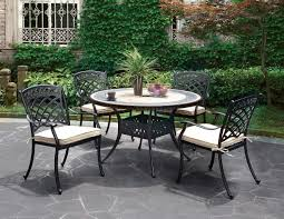 Garden Patio Table And Chairs Charissa Outdoor Patio Round Dining Table Set Cm Ot2125