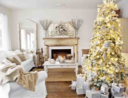 christmas living room decor white fireplace iron fence fireplace