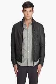 mens riding jackets robert geller riders jacket in gray for men lyst