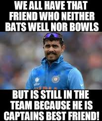 Meme India - cricket troll ravindra jadeja ms dhoni india cricket meme jokofy