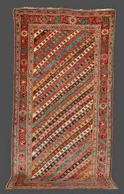 Bidjar Persian Rugs by Antique Bidjar Rug With Distinctive Diagonal Stripe Design Circa 1880