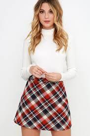plaid skirt sweet plaid skirt high waisted skirt mini skirt 34 00