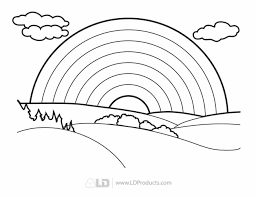 coloring page of a rainbow u2013 pilular u2013 coloring pages center