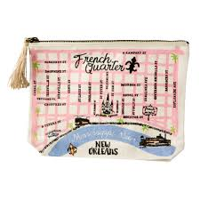 Map Of The French Quarter In New Orleans by French Quarter Map Pouch U2013 The Parish Line