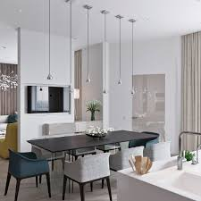 3 light interiors with creative pops of colorjust interior ideas simple forms and materials play an important role in a space as compact as this one even the pendants above the dining table play their part without
