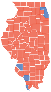 2014 Election Map by Atlas Illinois Election Map 2014