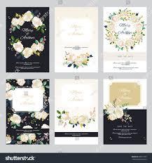 Vintage Wedding Invitation Cards Vintage Wedding Invitation Set Design Template Stock Vector