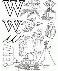 letter w worksheets for kindergarten preschool and kindergarten