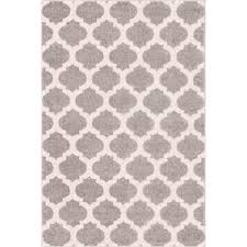 Modern Trellis Rug Well Woven Mystic Zoe Grey 5 Ft 3 In X 7 Ft 3 In Modern