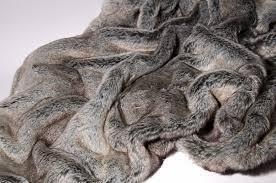Faux Fur Throw Grey Trouva James Brindley Wolf Faux Fur Throw