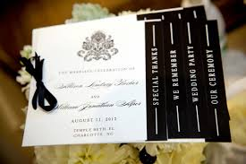 black and white wedding programs black and white wedding programs black white damask black