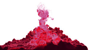 close up movement of red paint in water color drop in water ink