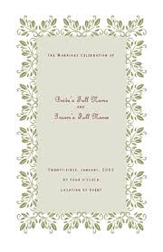 wedding program template for microsoft publisher ms publisher