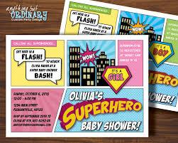 superhero baby shower invitation printable super hero party