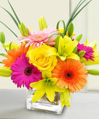 Square Vase Flower Arrangements Bright U0026 Stunning Same Day Delivery Boston Ma Central Square