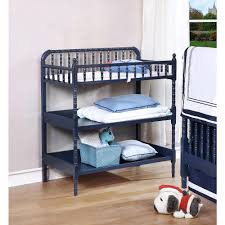 Rails Change Table Sophisticated Infant Changing Table Navy Blue Finish Hardwood