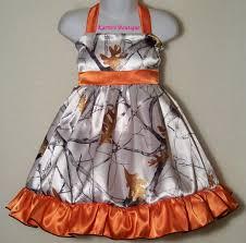 camo flower dress snow camo orange halter satin