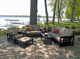 Outdoor Livingroom by Outdoor Living Room Sets With Polywood Lakeside 7 Piece Outdoor