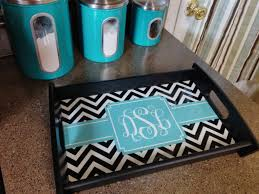monogrammed tray personalized tray monogrammed tray wooden serving tray in