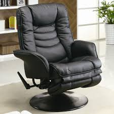 Brown Leather Recliner Chairs Coaster Recliners Casual Leatherette Swivel Recliner Del Sol