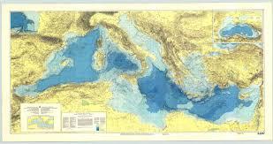 Noaa Maps Ioc Iho Ibcm International Bathymetric Chart Of The Mediterranean