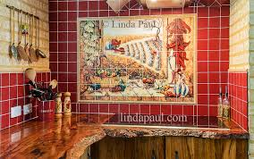 Kitchen Tile Backsplash Murals by Mexican Tile Murals Chili Pepper Kitchen Backsplash Mural