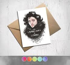 of thrones birthday card of thrones birthday card jon snow greeting card 5 x