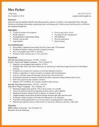9 sales representative resume example sap appeal
