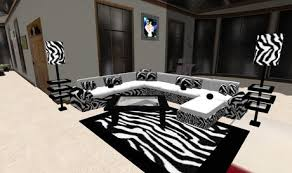 zebra living room set second life marketplace zebra living room set
