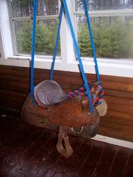 Kinderzimmer Schaukel My Old Saddle Is Now A Saddle Swing Sattel U0026 Schaukel