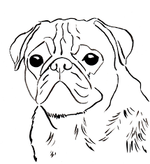pug dog coloring pages kids coloring