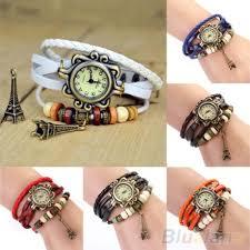 ladies bracelet wrist watches images Beautiful girl lady hot vintage women 39 s eiffel tower quartz jpg